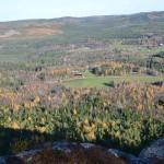 Utsikt från Brättingberget med Björsarv i bakgrunden. Foto Elisabeth Johansson